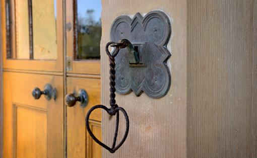An ornate doorbell