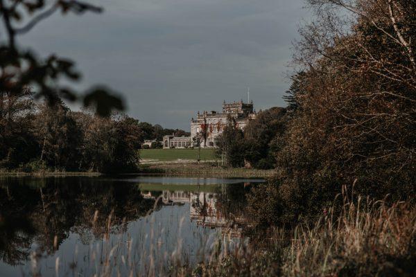 Kinmount Castle across a lake