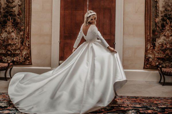 A bride inside the Scottish castle