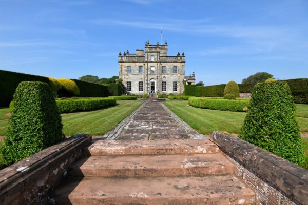 Kinmount Castle from across the lawn