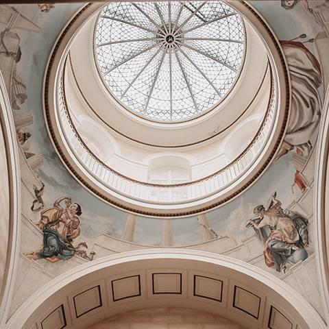 Georgian domed glass ceiling