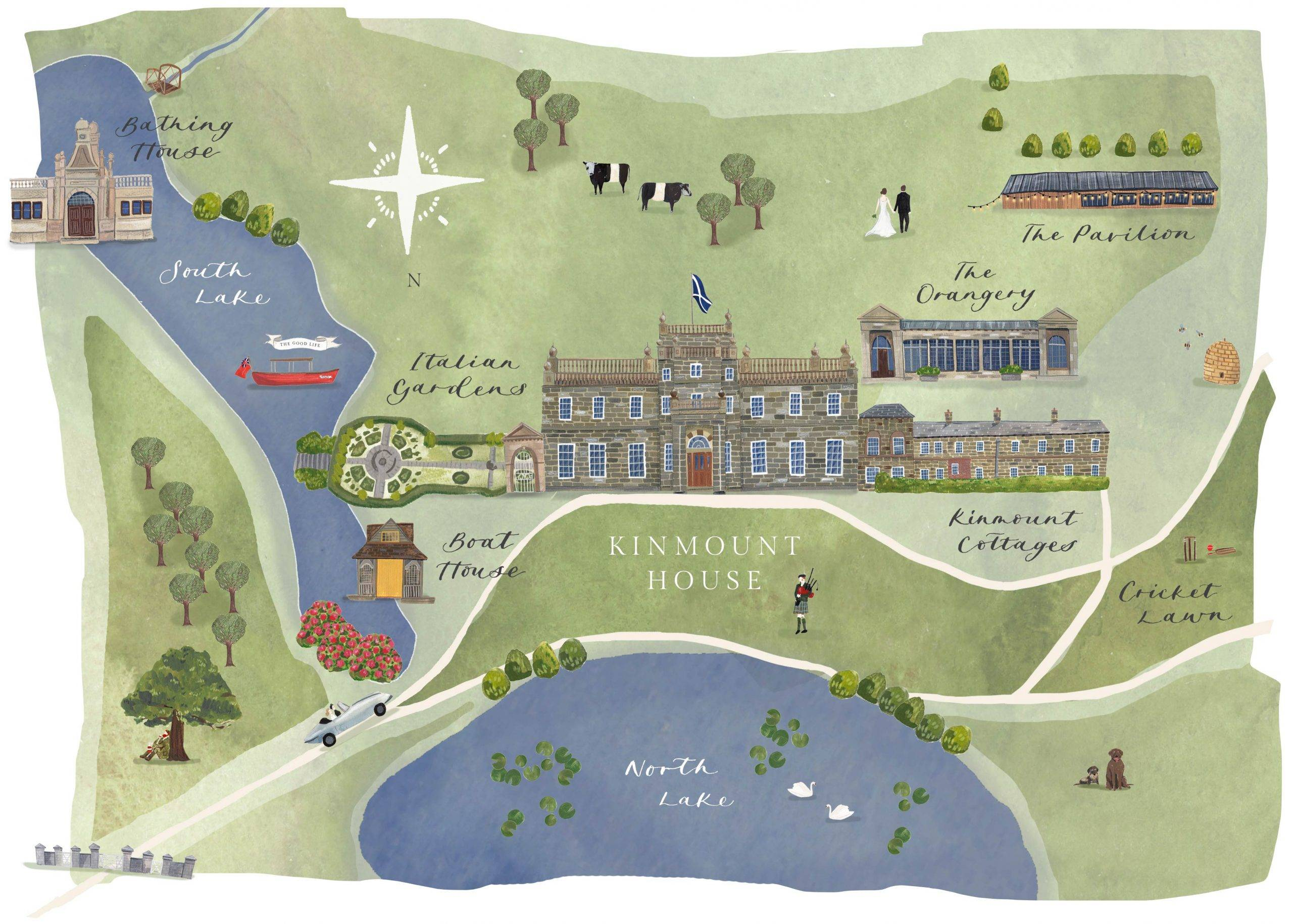 Kinmount House map