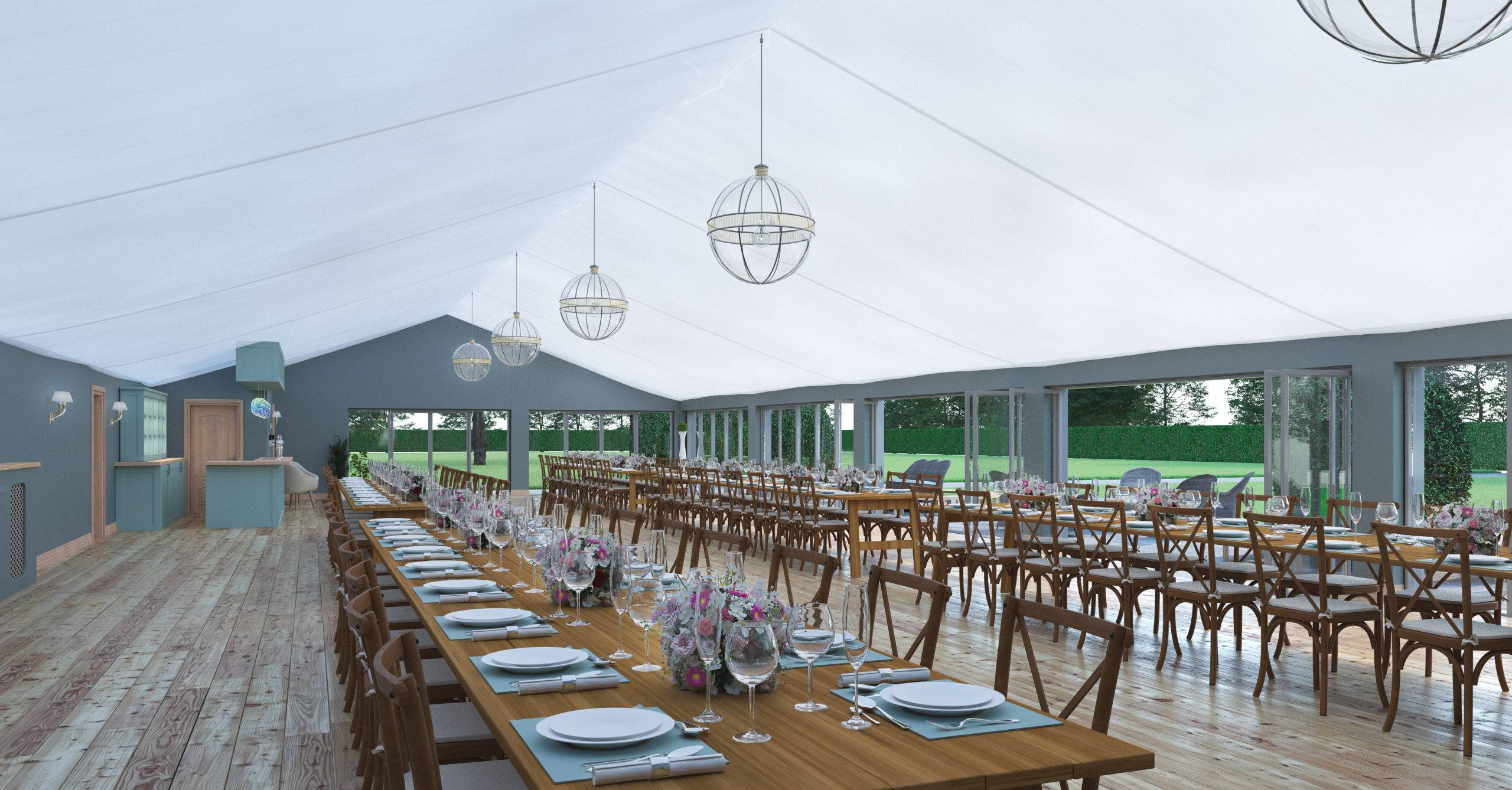 Kinmount Pavilion tables ready for guests