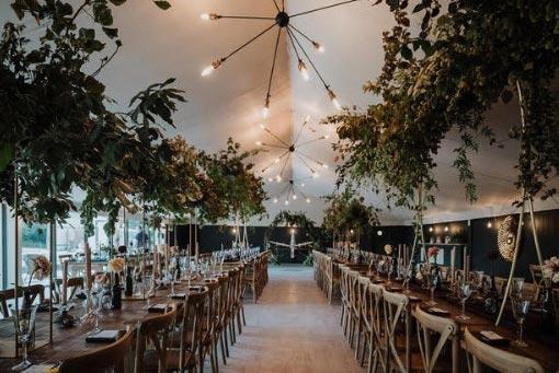 Kinmount Pavilion set up for a wedding