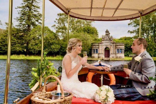 Newlyweds sailing towards The Bathing House