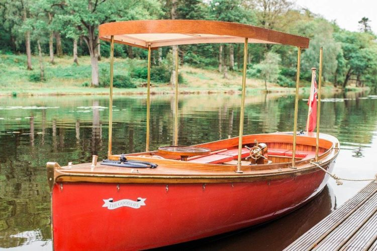 The Good Life wedding motorboat