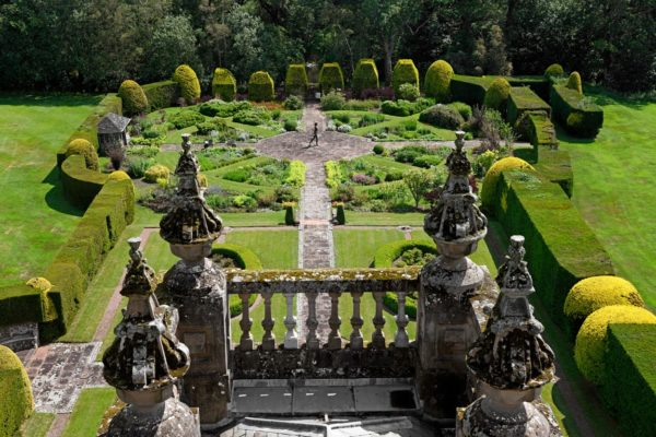 A top-down view of the Italian Gardens