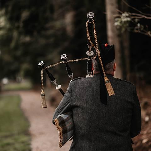 Traditional Scottish piper